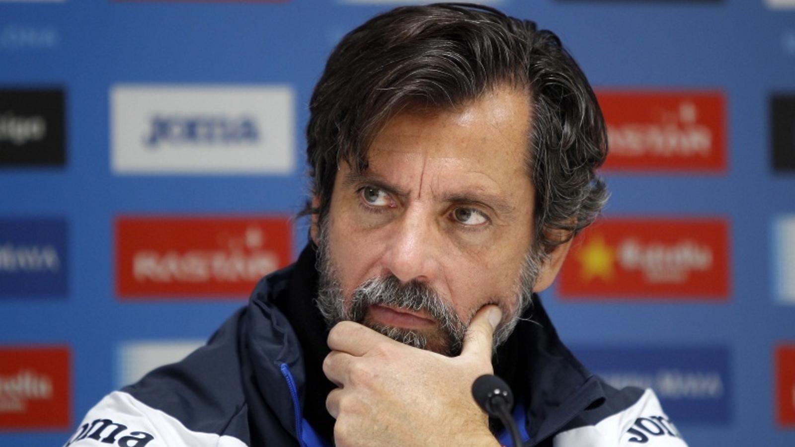 Quique Sánchez Flores està confiat en poder capgirar la delicada situació que viu l'Espanyol