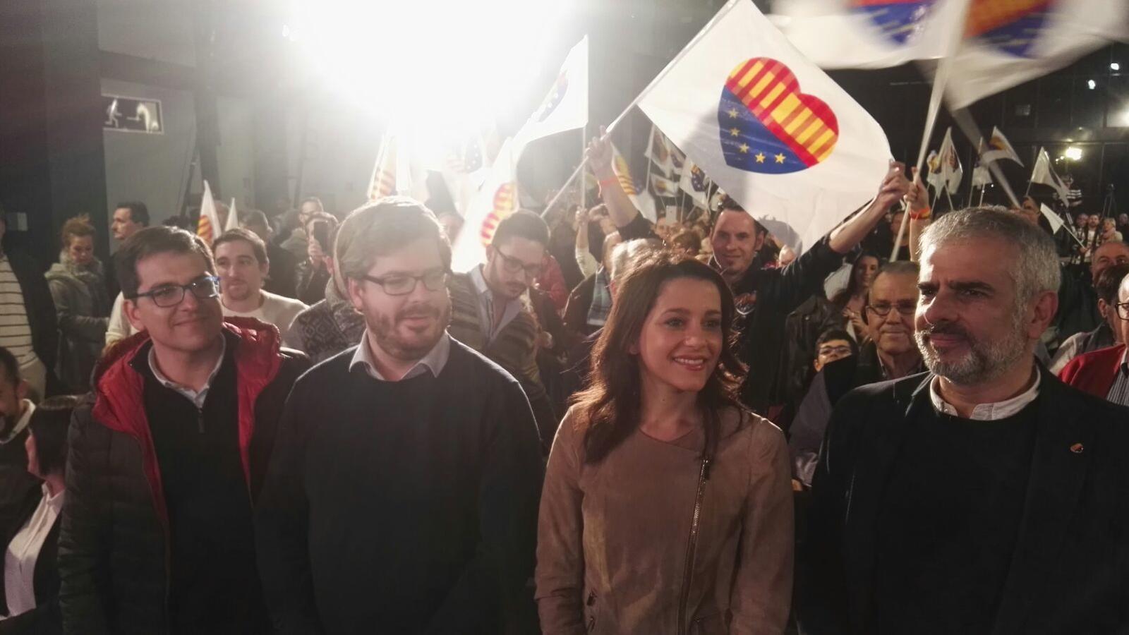 L'acte de Ciutadans  al recinte Fira de Sabadell aquest dimarts.