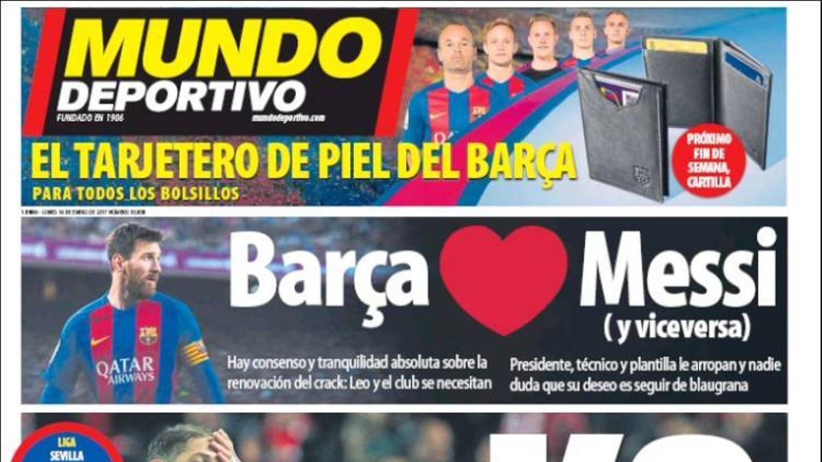 Portada 16 gener Mundo Deportivo