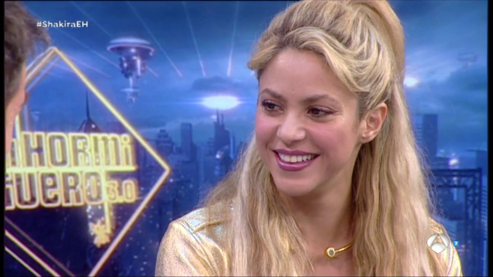 Shakira i Pablo Motos, en un moment del programa