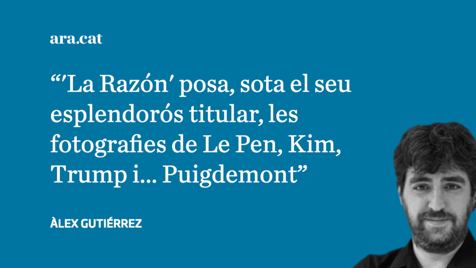 'La Razón' estén dubtes sobre la salut mental de Puigdemont