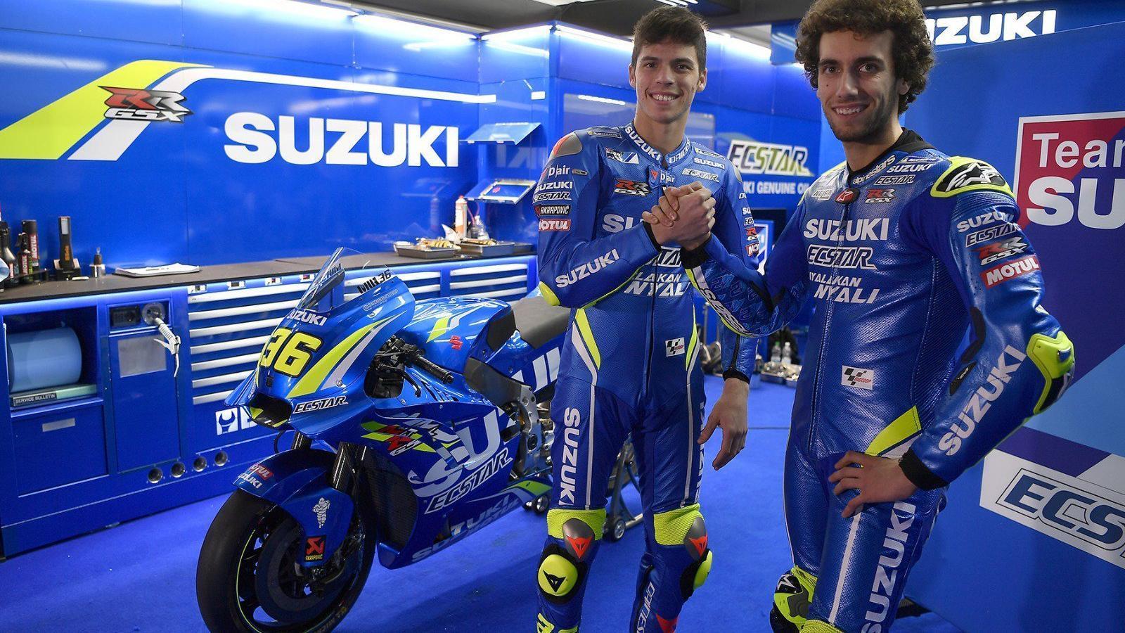 Mir i Rins, els pilots de l'equip Suzuki per al 2019