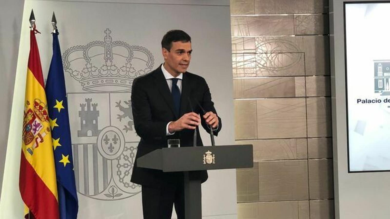 """La Moncloa avisa que """"garantirà la seguretat a Catalunya amb proporcionalitat, fermesa i unitat"""""""