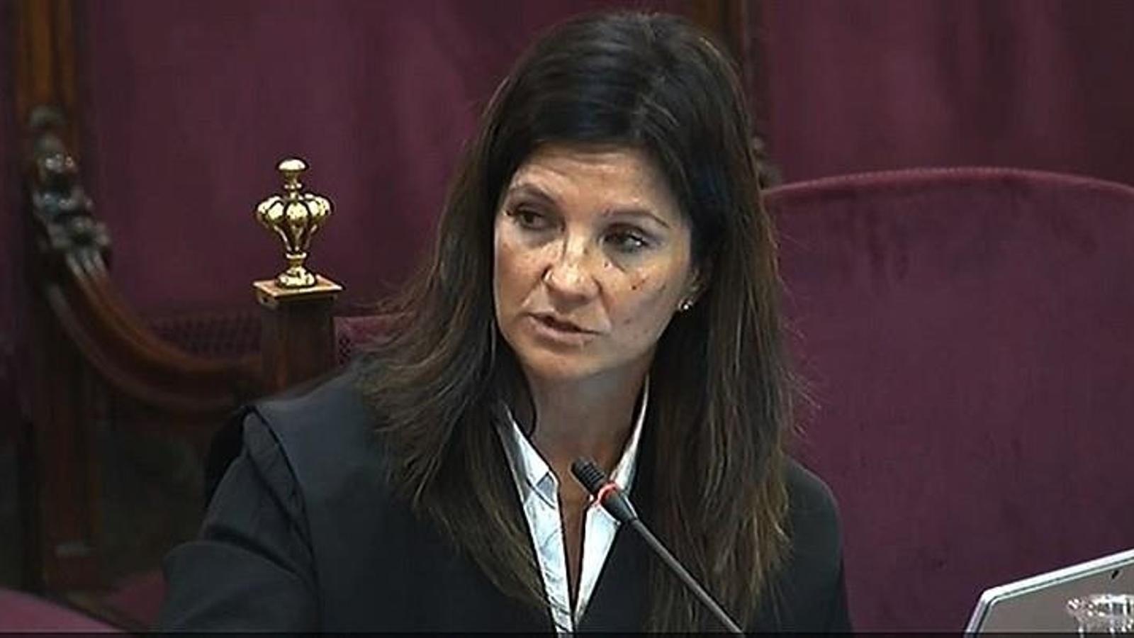 L'advocada de l'Estat Rosa María Seoane, durant el judici contra el Procés al Tribunal Suprem