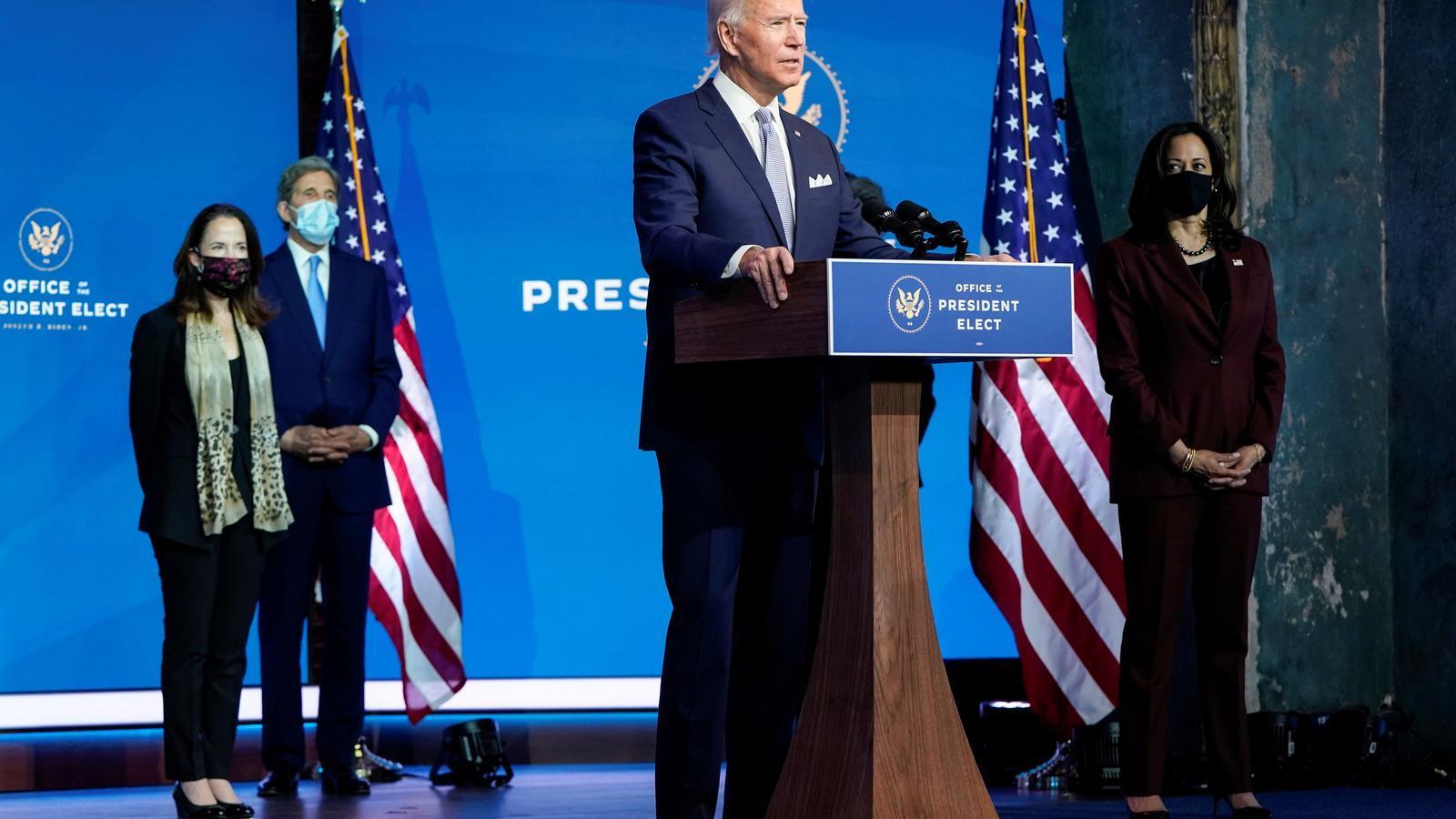 Biden en la presentació de part del seu govern.