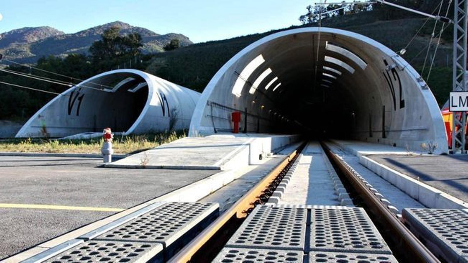 Entrada akl túnel del Petús, que ara passarà a gestionar una societat conjunta entre Espanya i França. / ACN