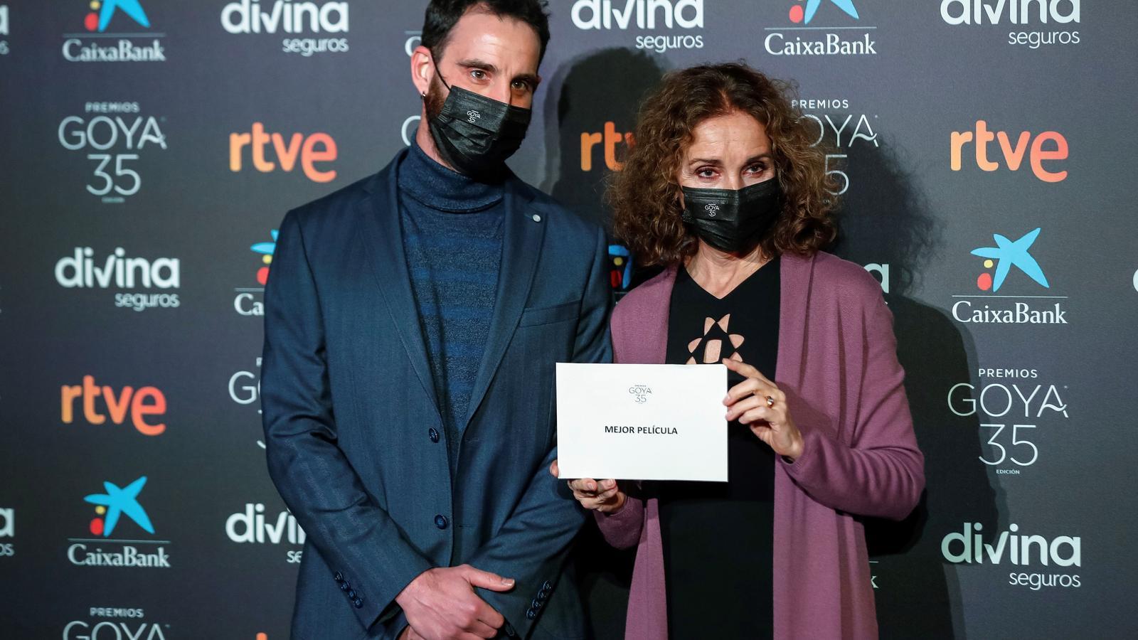 Dani Rovira i Ana Belén durant la lectura de les nominacions als Goya.