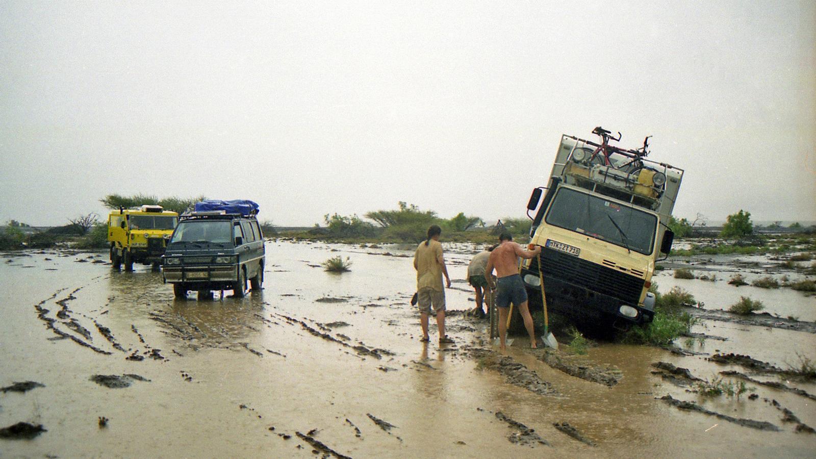 En un moment del viatge per Kenia