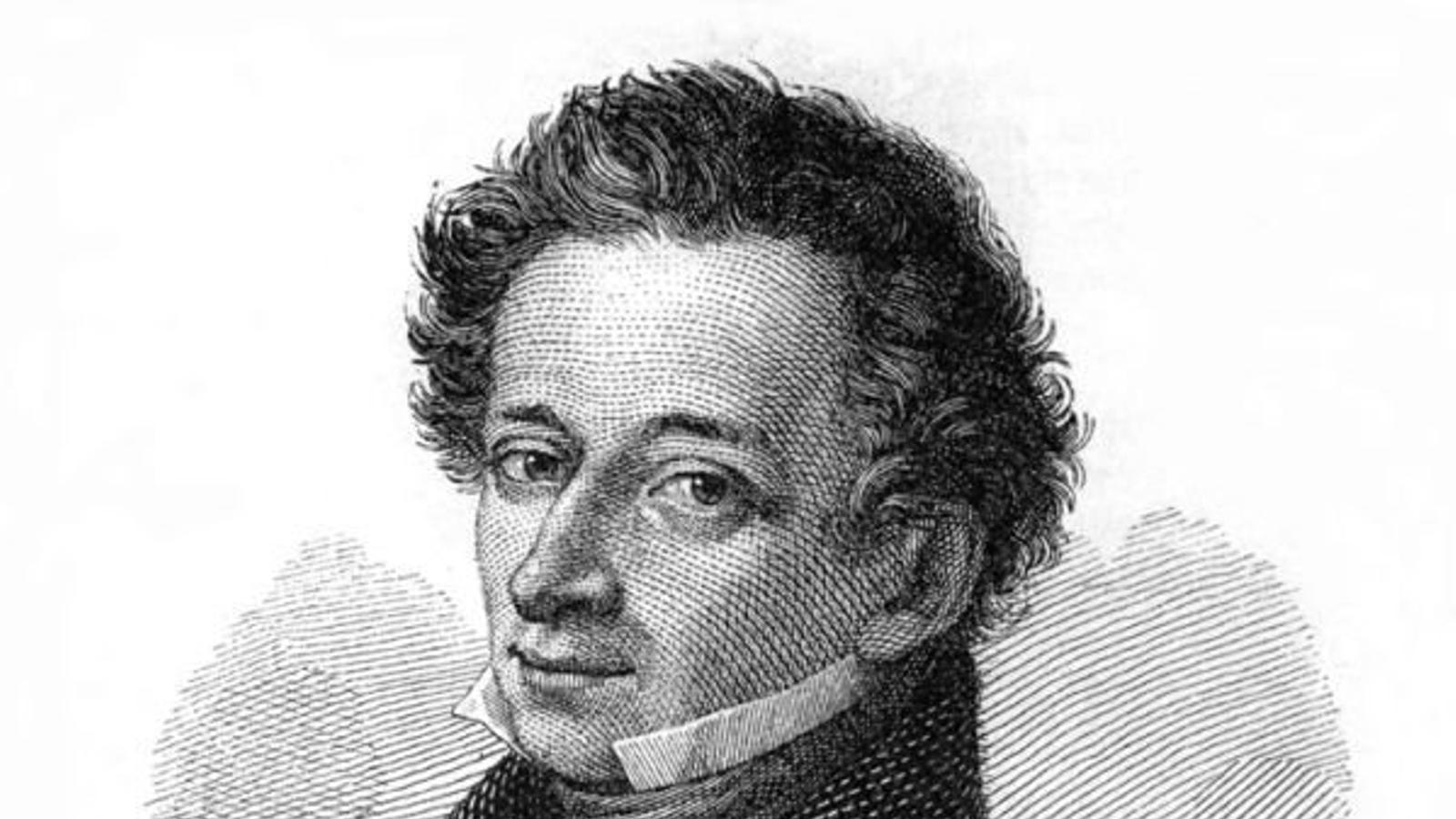 Gravat del retrat de l'escriptor de Gaetano Guadagnini.