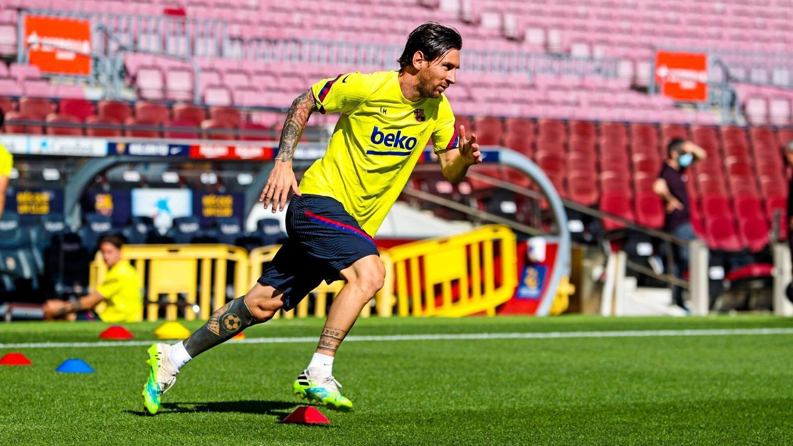 Leo Messi, al Camp Nou