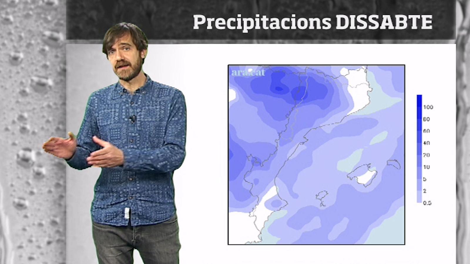 La méteo en 1 minut: sol, estones de pluja i canvis de temperatura
