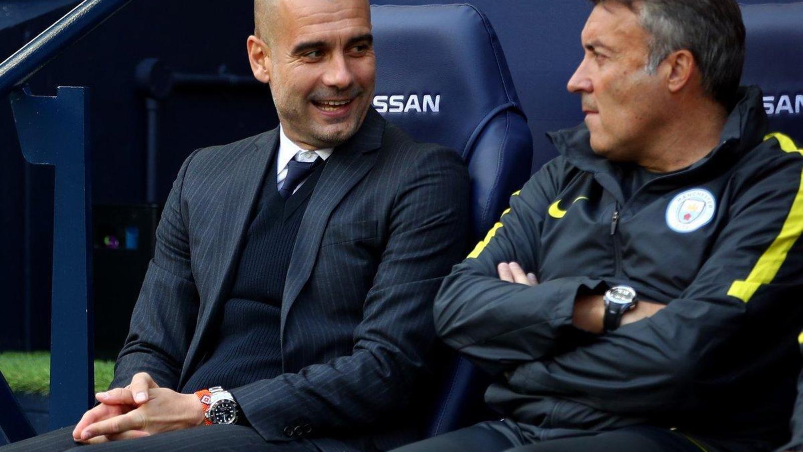 Domènec Torrent durant la seva etapa amb Pep Guardiola al Manchester City