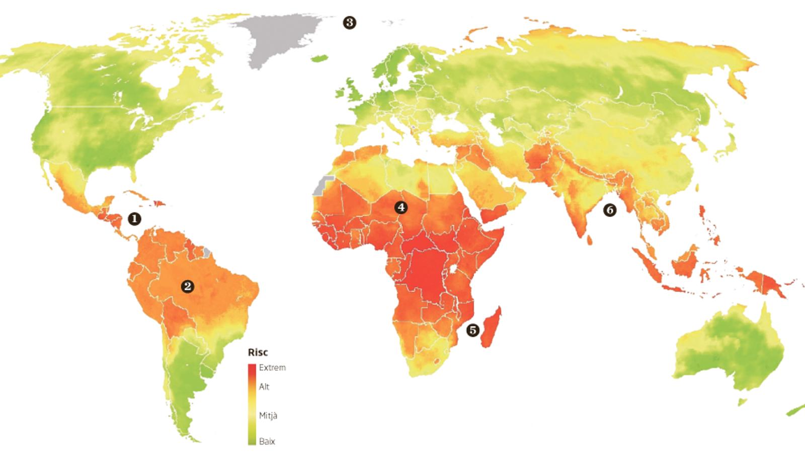 Set regions del món en primera línia de foc