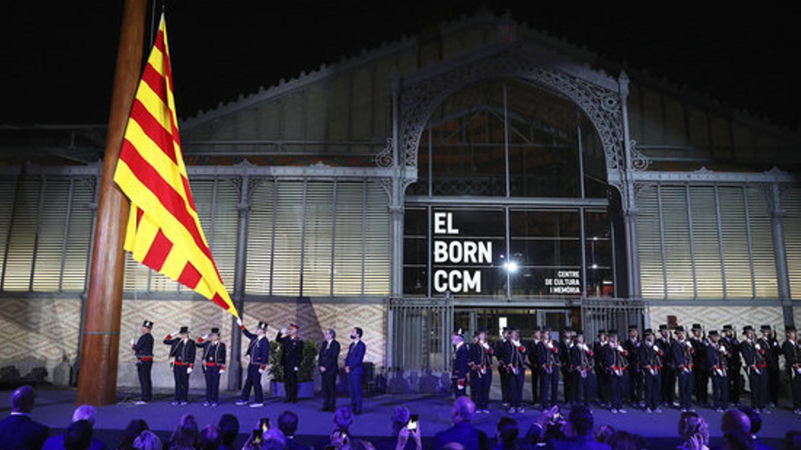 Acte institucional amb motiu de la Diada el 10 de setembre del 2018 al Centre Cultural Born de Barcelona