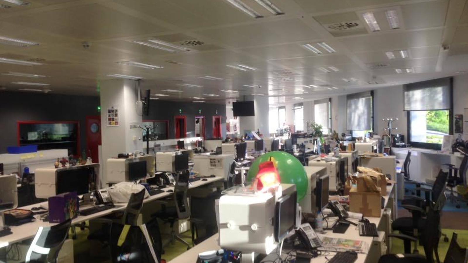 La redacció d''El Mundo', buida aquest dimarts al matí