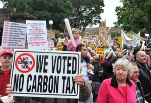 CARBON TAX PROTEST SYDNEY