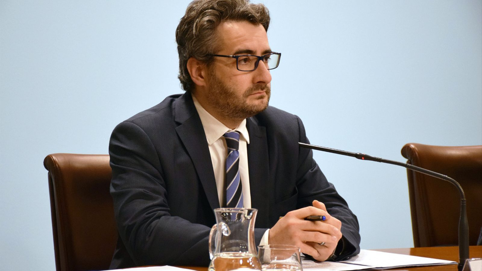 El ministre portaveu, Eric Jover, a la roda de premsa posterior al consell de ministres. / T. N. (ANA)