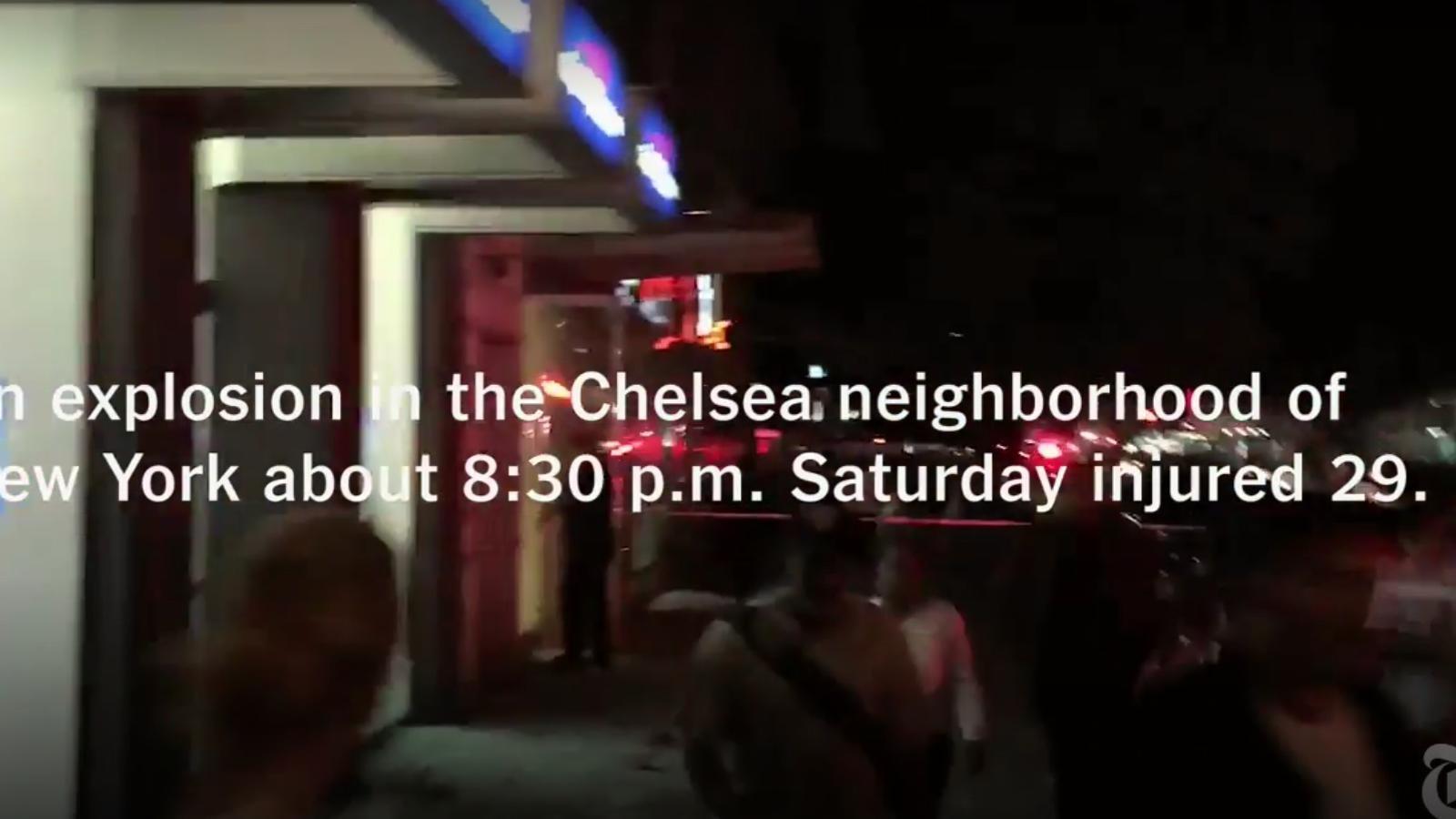 Una bomba deixa 29 ferits i estén la por al centre de Manhattan
