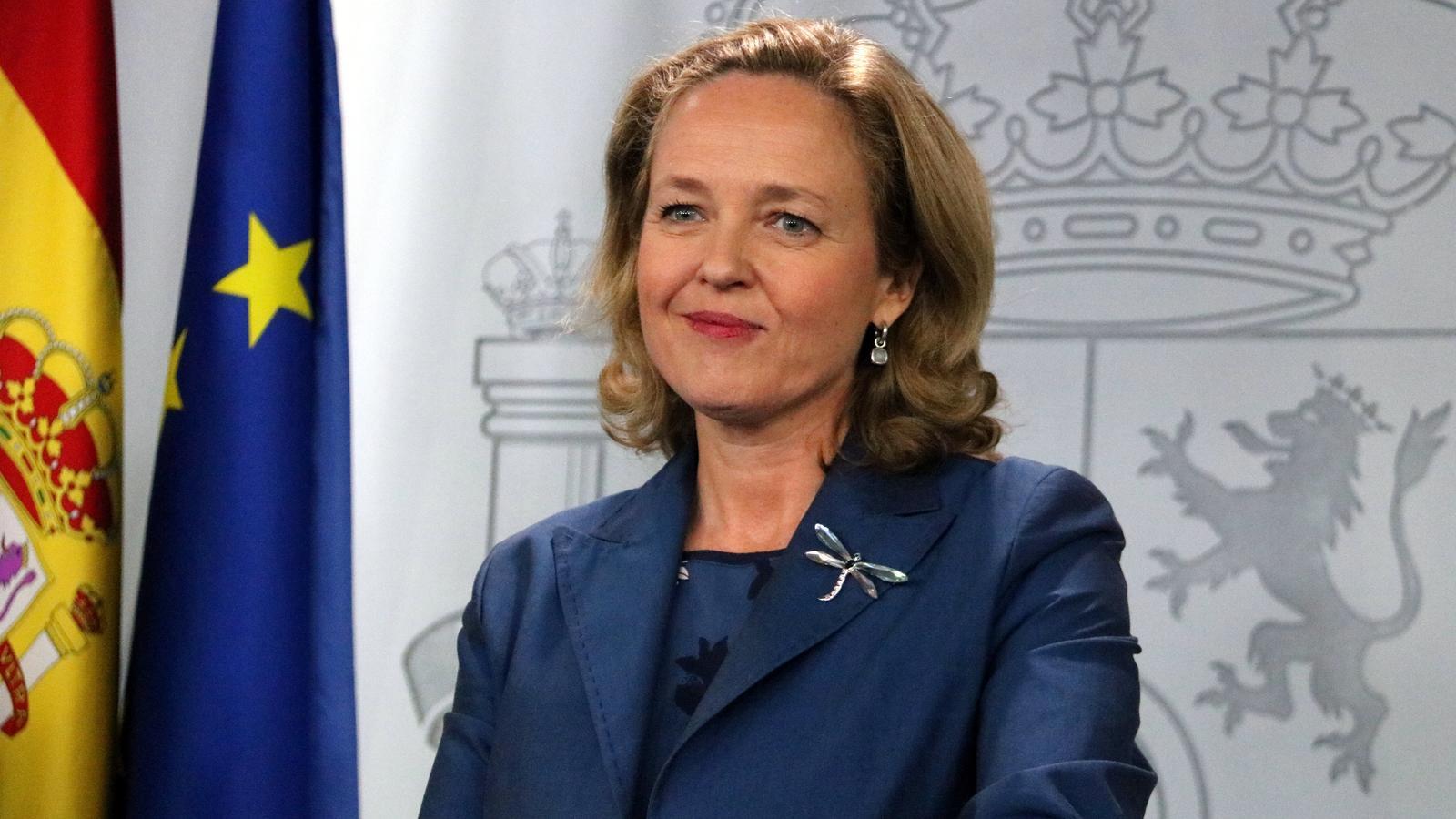 La ministra d'Economia, Nadia Calviño, en una imatge d'arxiu