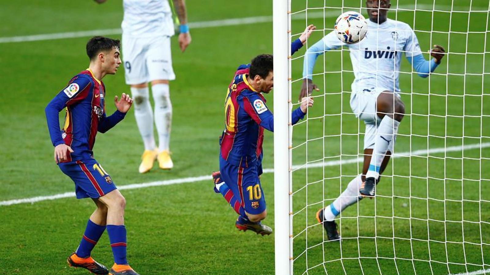 Messi, igualant el rècord de gols de Pelé