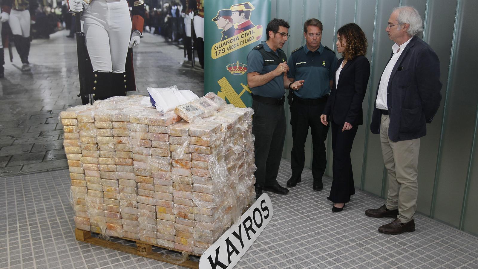 """Els 600 quilos de cocaïna requisats tenen un valor de """"més de 20 milions d'euros"""""""