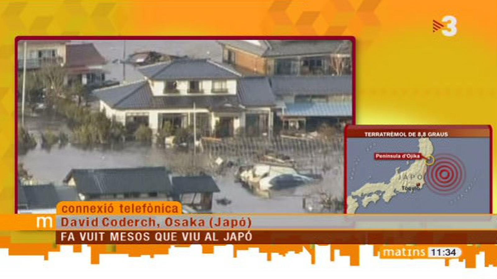 A Osaka hem tingut un ensurt, però el terratrèmol no ha tingut tantes conseqüències com a Tòquio