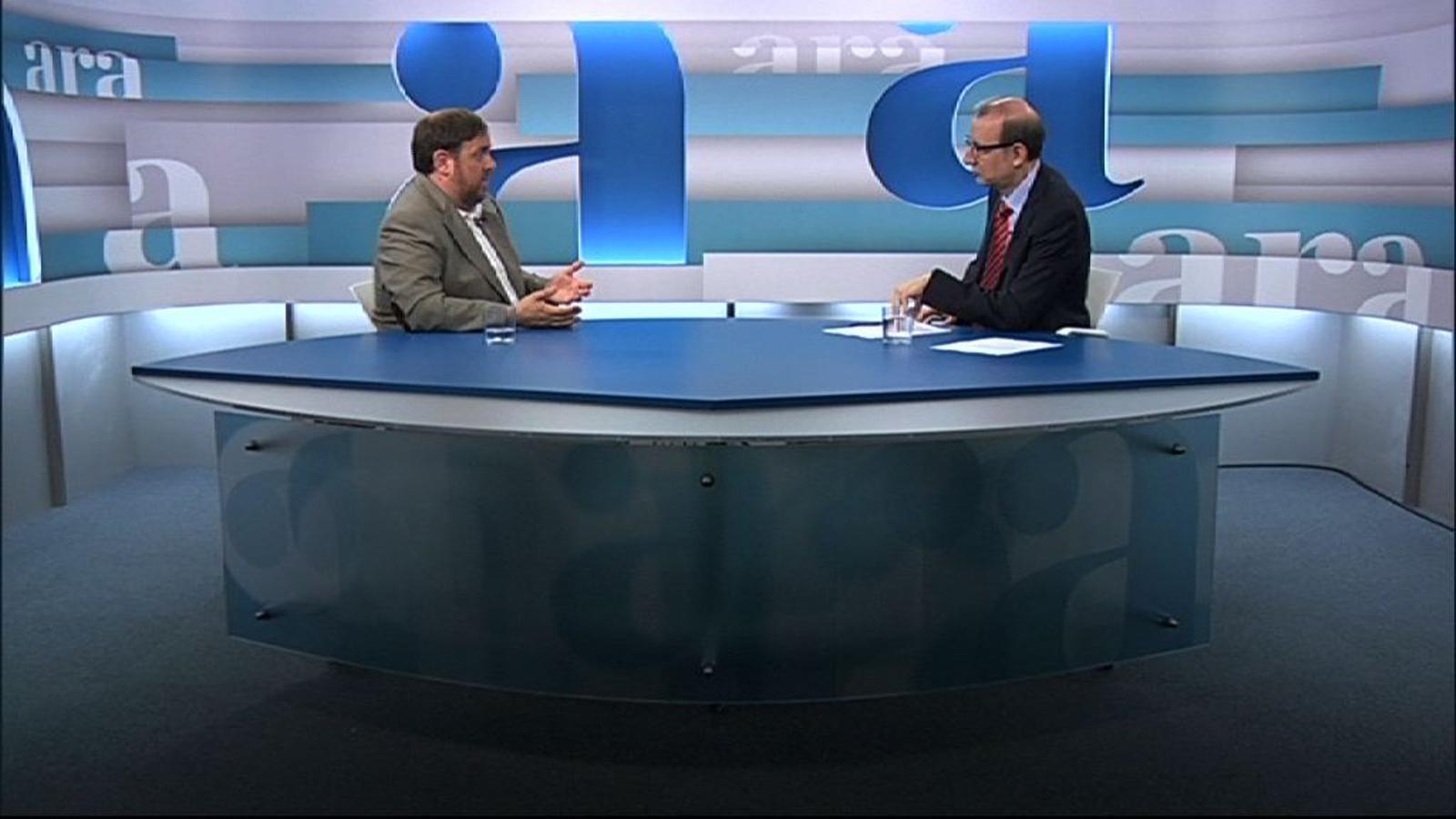 Oriol Junqueras: No som aquí per forçar unes eleccions anticipades