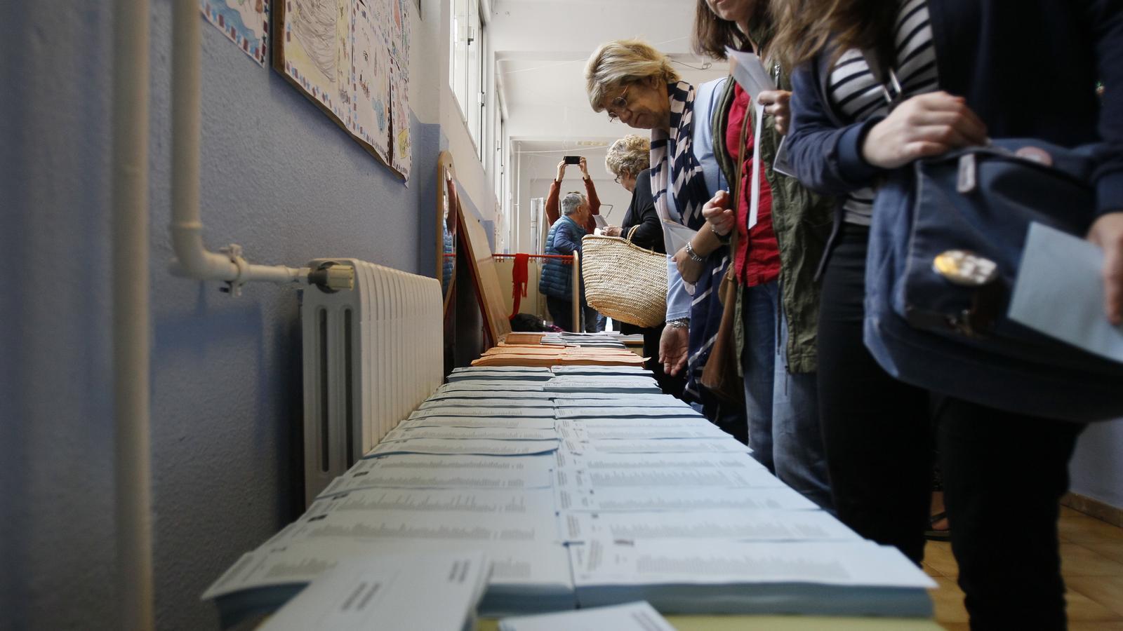 Imatge d'algun dels votants de les Illes Balears aquest diumenge