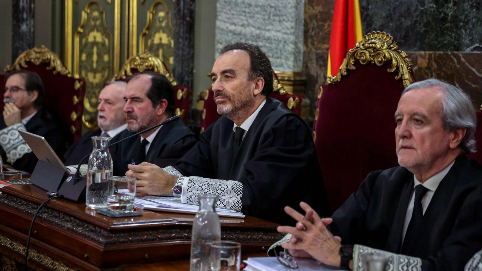 El president de la sala segona del Tribunal Suprem, Manuel Marchena, durant una de les sessions del judici al Procés.