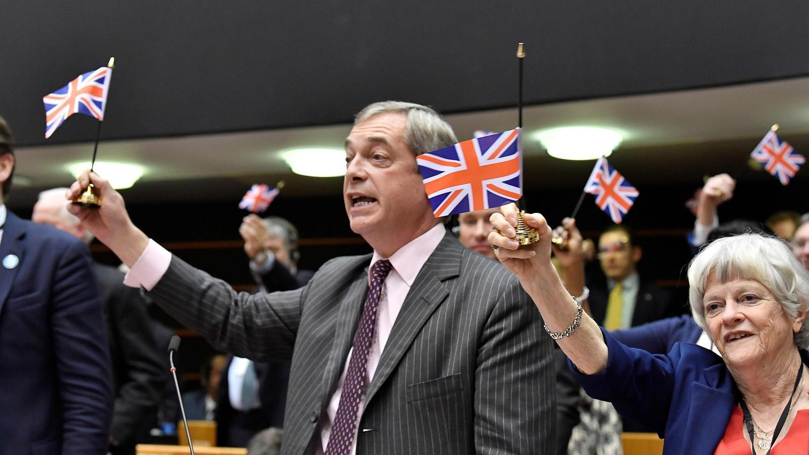Nigel Farage aquest matí a Brussel·les