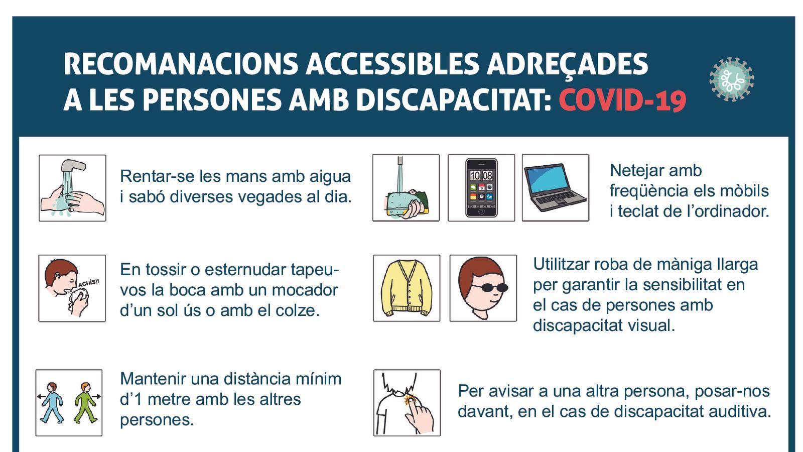 Recomanacions del Govern per a les persones amb discapacitat. / GOVERN