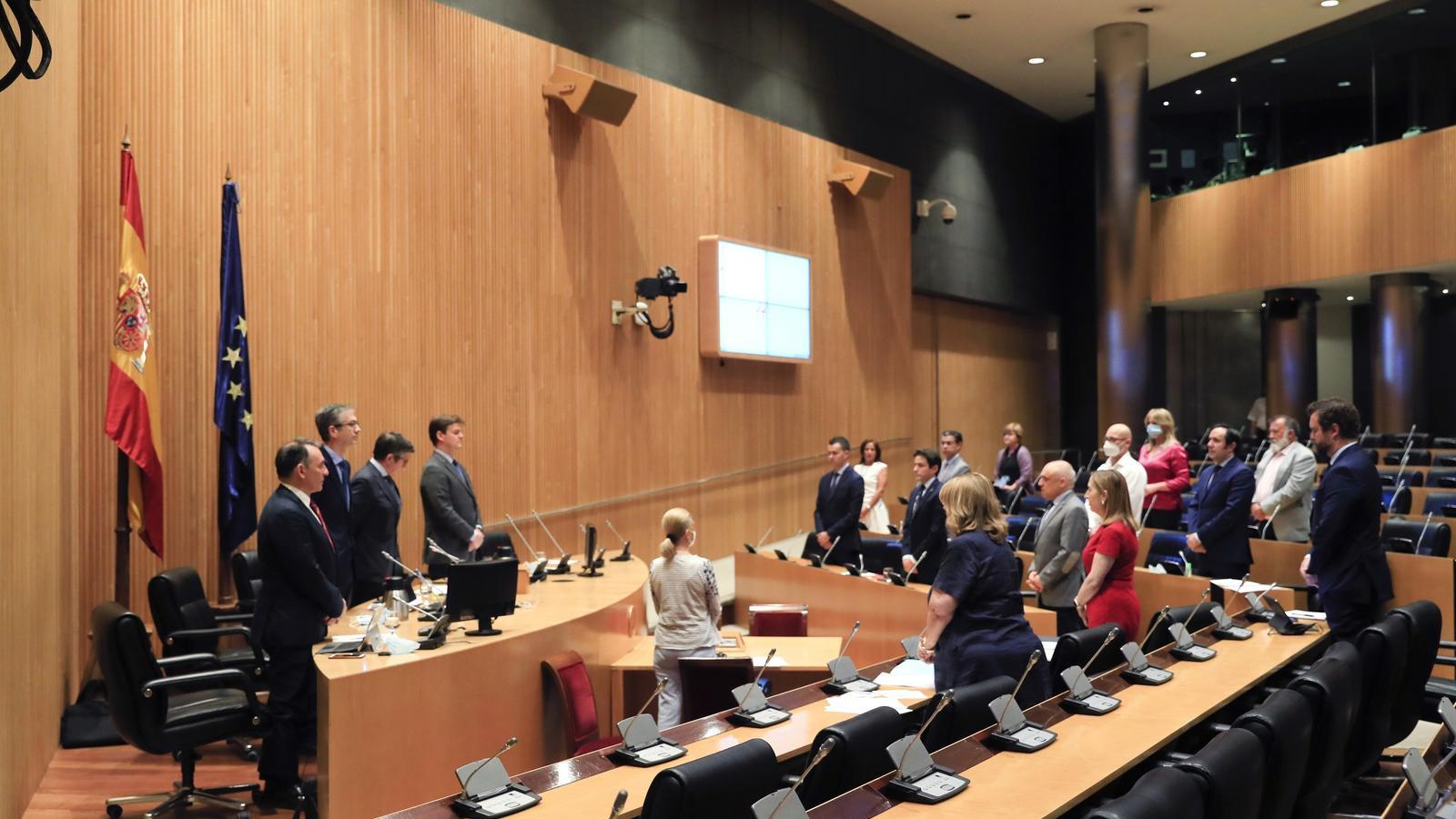 Pla general d'una de les reunions de la comissió de Reconstrucció Social i Econòmica al Congrés.