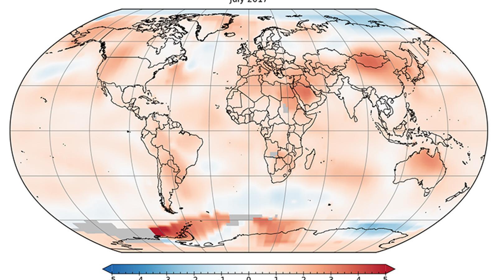 Els juliols de 2016 i 2017, els més càlids des de 1880