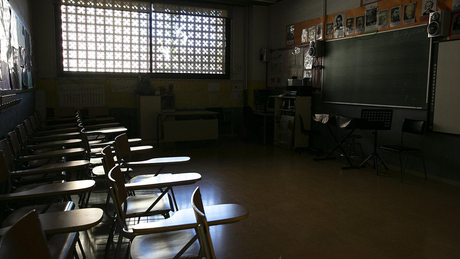 Imatge d'una aula tancada / CRISTINA CALDERER