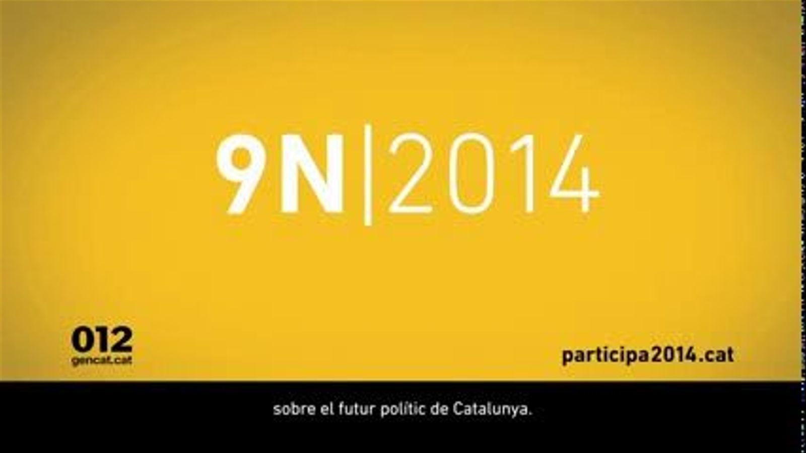 Espot de la campanya institucional del 9N: com votar
