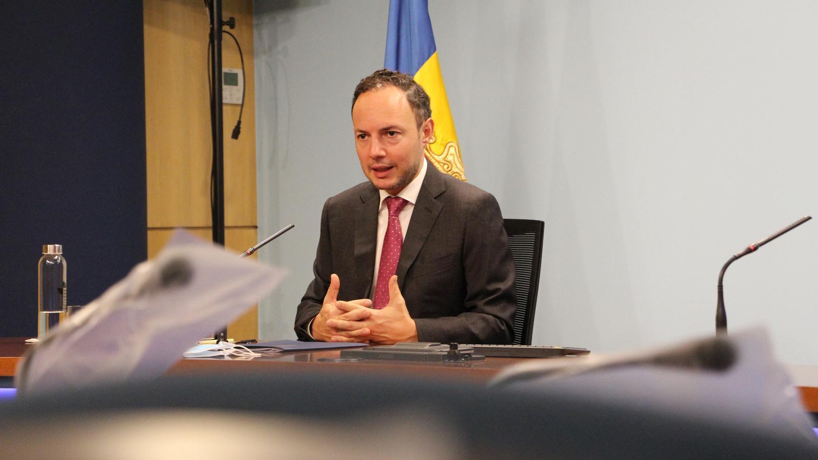 El cap de Govern, Xavier Espot, aquest dimecres / AS