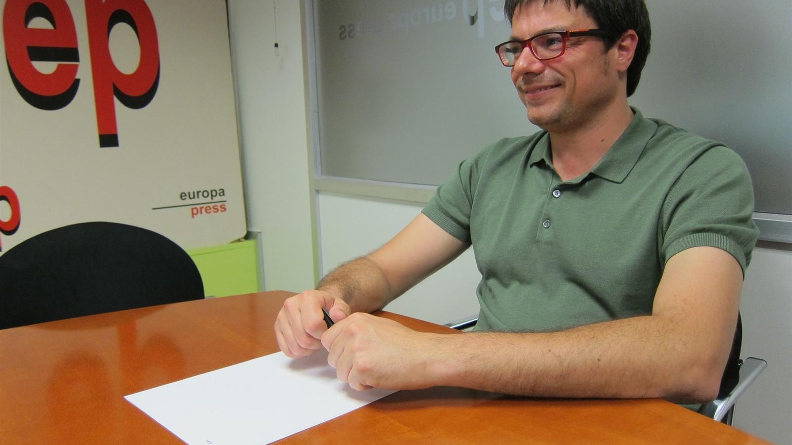 El secretari d'organització de Catalunya en Comú, Xavi Matilla