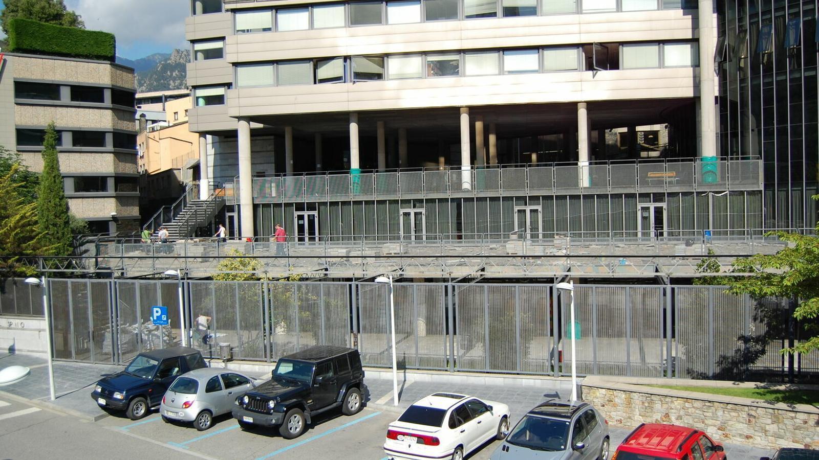 La façana de l'escola Maria Moliner d'Escaldes. / ARXIU