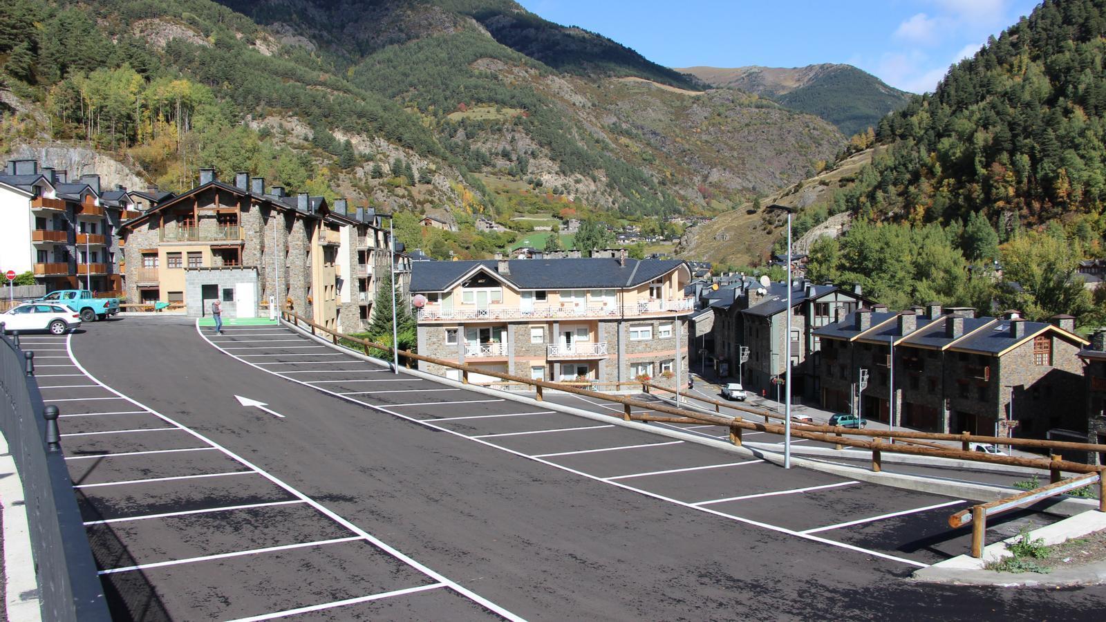 Fins a 75 noves places d'aparcament a la Cortinada. / COMÚ D'ORDINO
