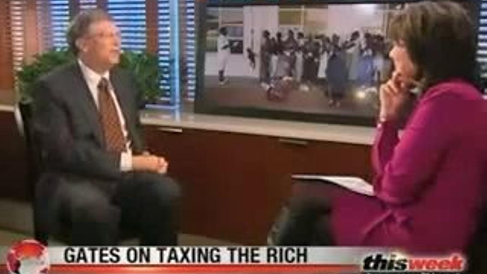 Bill Gates afirma que vol que els rics paguin més impostos en una entrevista amb la cadena de televisió ABC