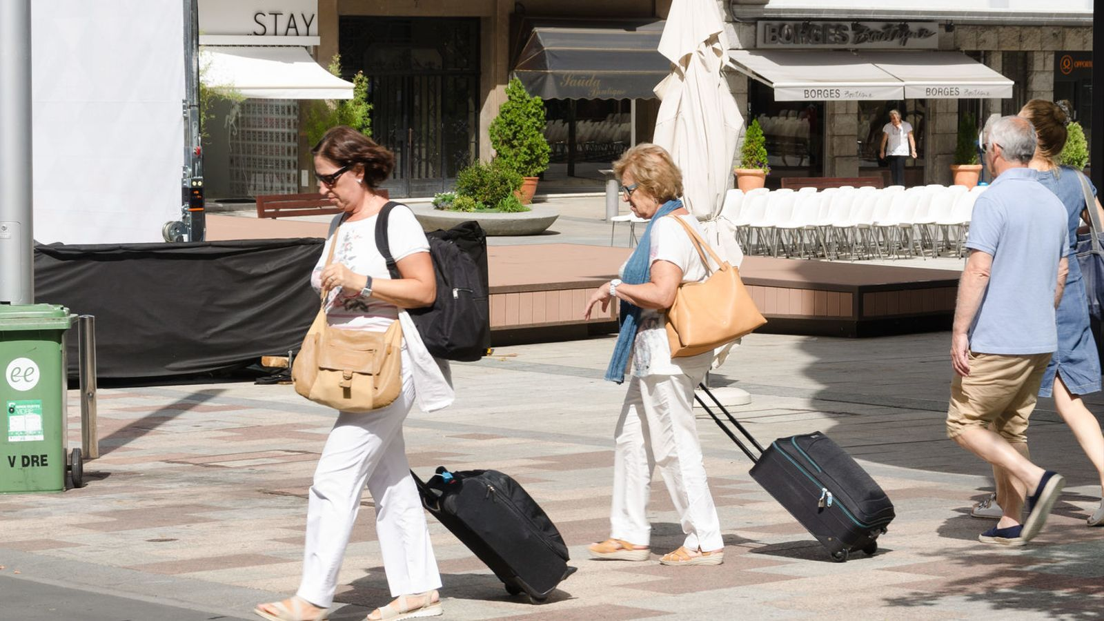 Turistes a Escaldes-Engordany. / ARXIU ANA
