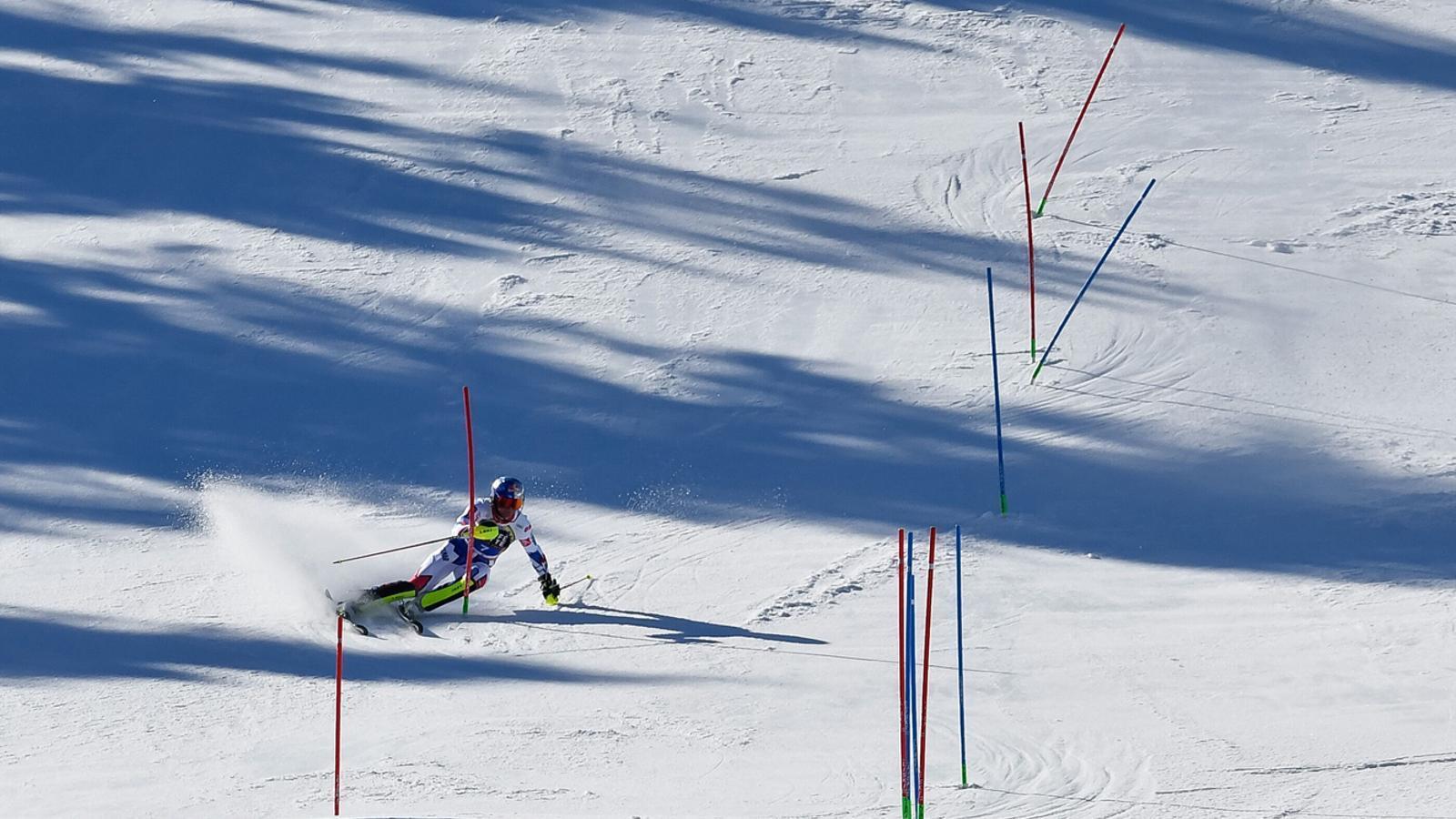 Un dels competidors de la Copa del Món d'esquí alpí. / GRANDVALIRA
