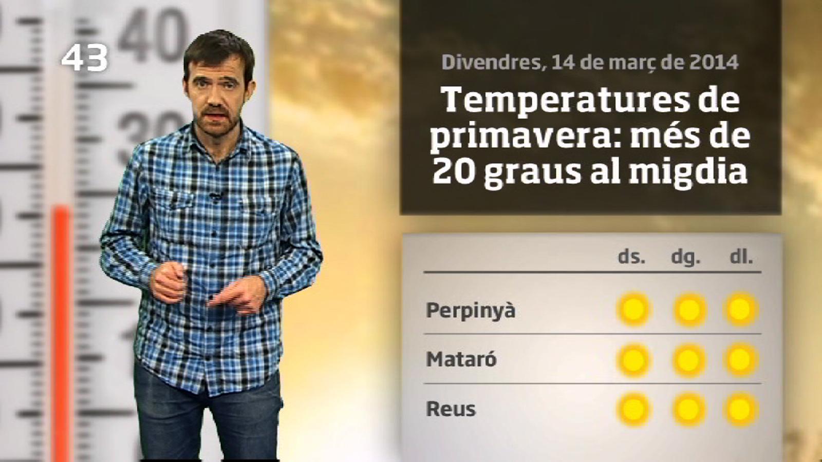 La méteo en 1 minut: aquest cap de setmana serà primaveral però l'hivern no és mort (15/3/2014)