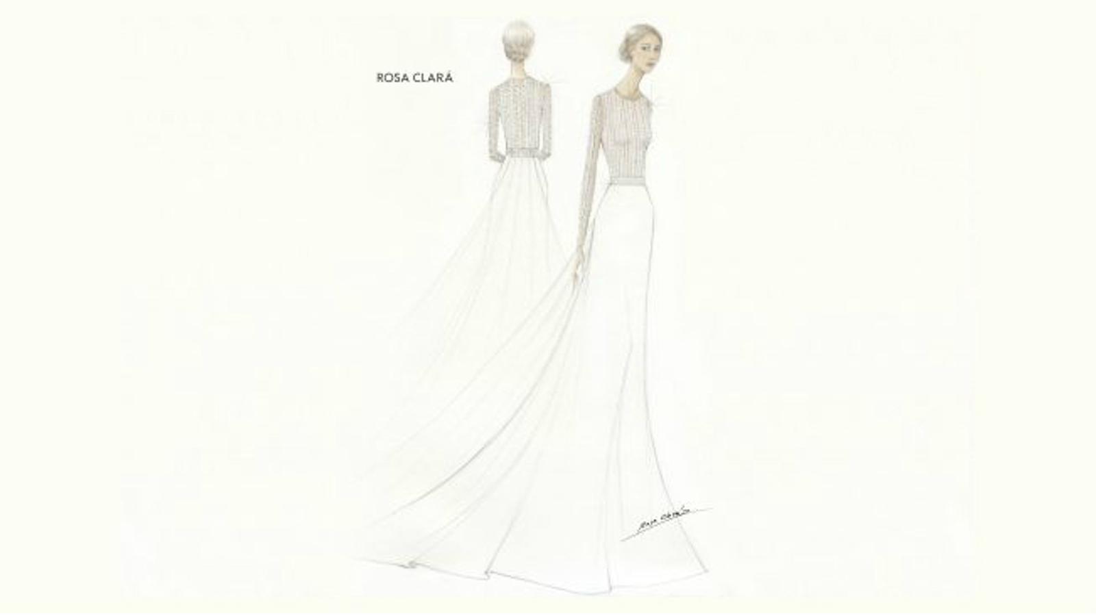 Rosa Clará ha fet públic l'esbós del vestit de Mery Perelló