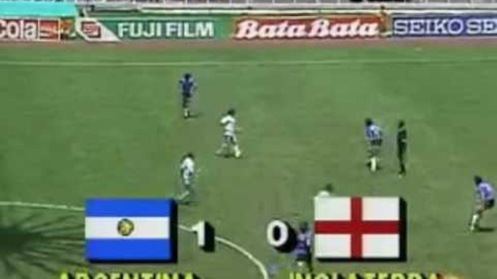 'La mano de Dios'  contra Anglaterra del 1986