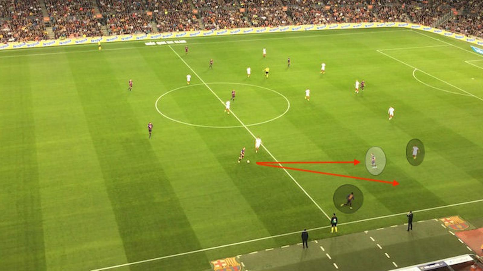 Messi i Semedo compliquen la intervenció d'Arana