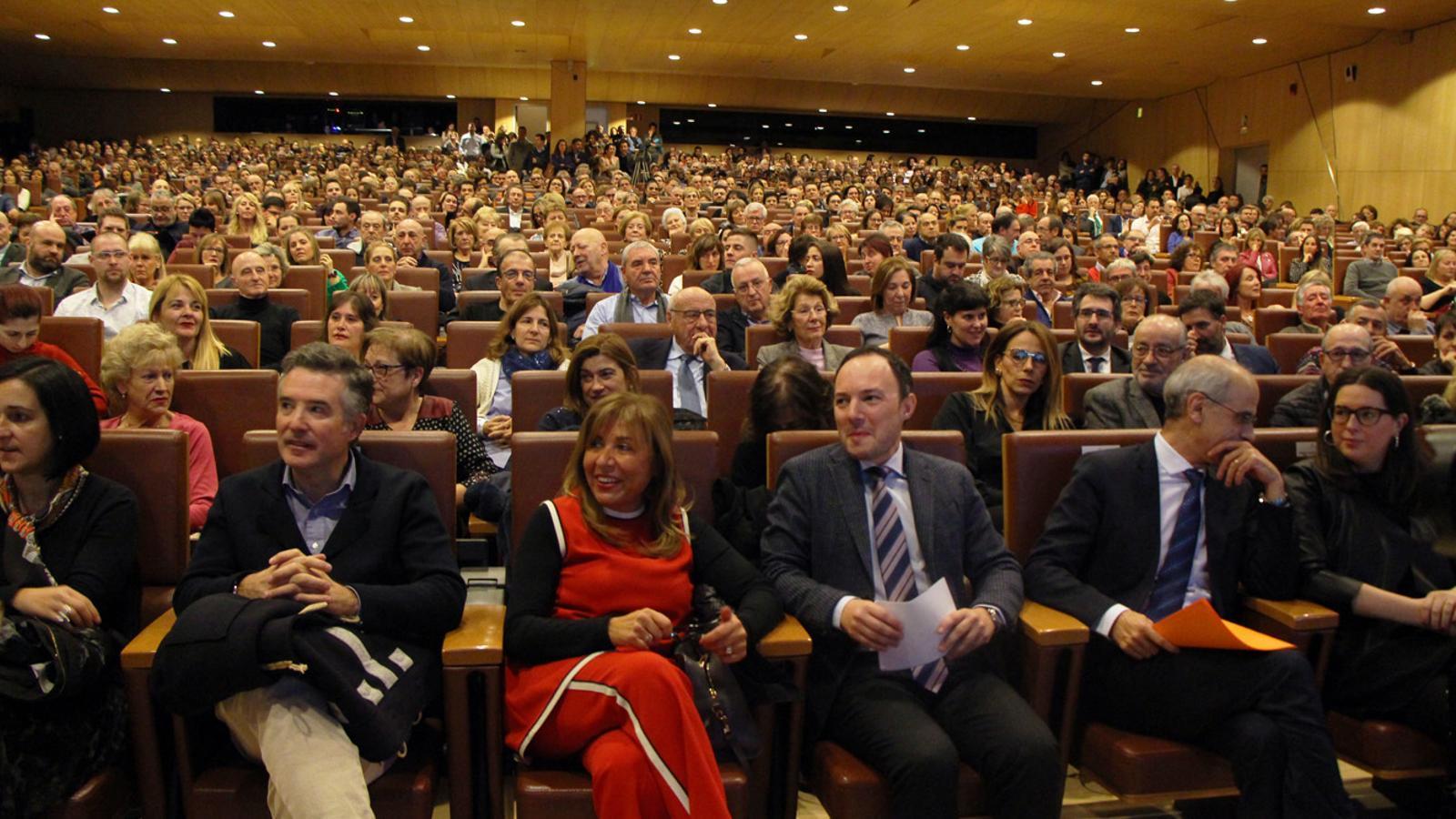 Ple en l'acte de presentació de campanya de Xavier Espot com a candidat de DA. / T. N. (ANA)