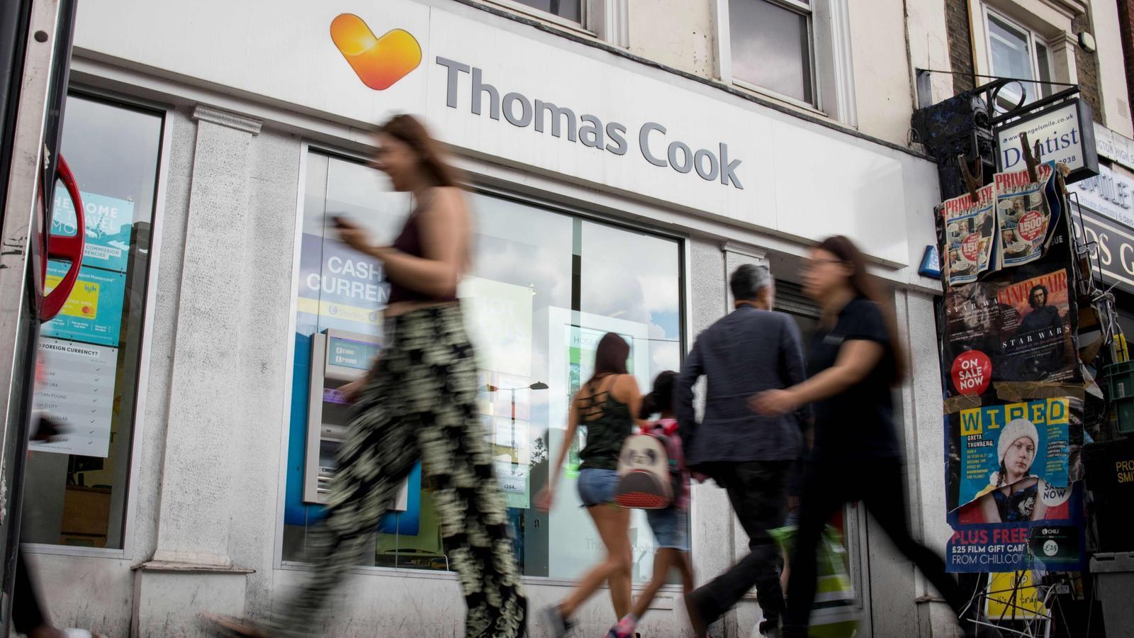 Una agència londinenca de Thomas Cook, el grup que compta amb 22.000 treballadors.