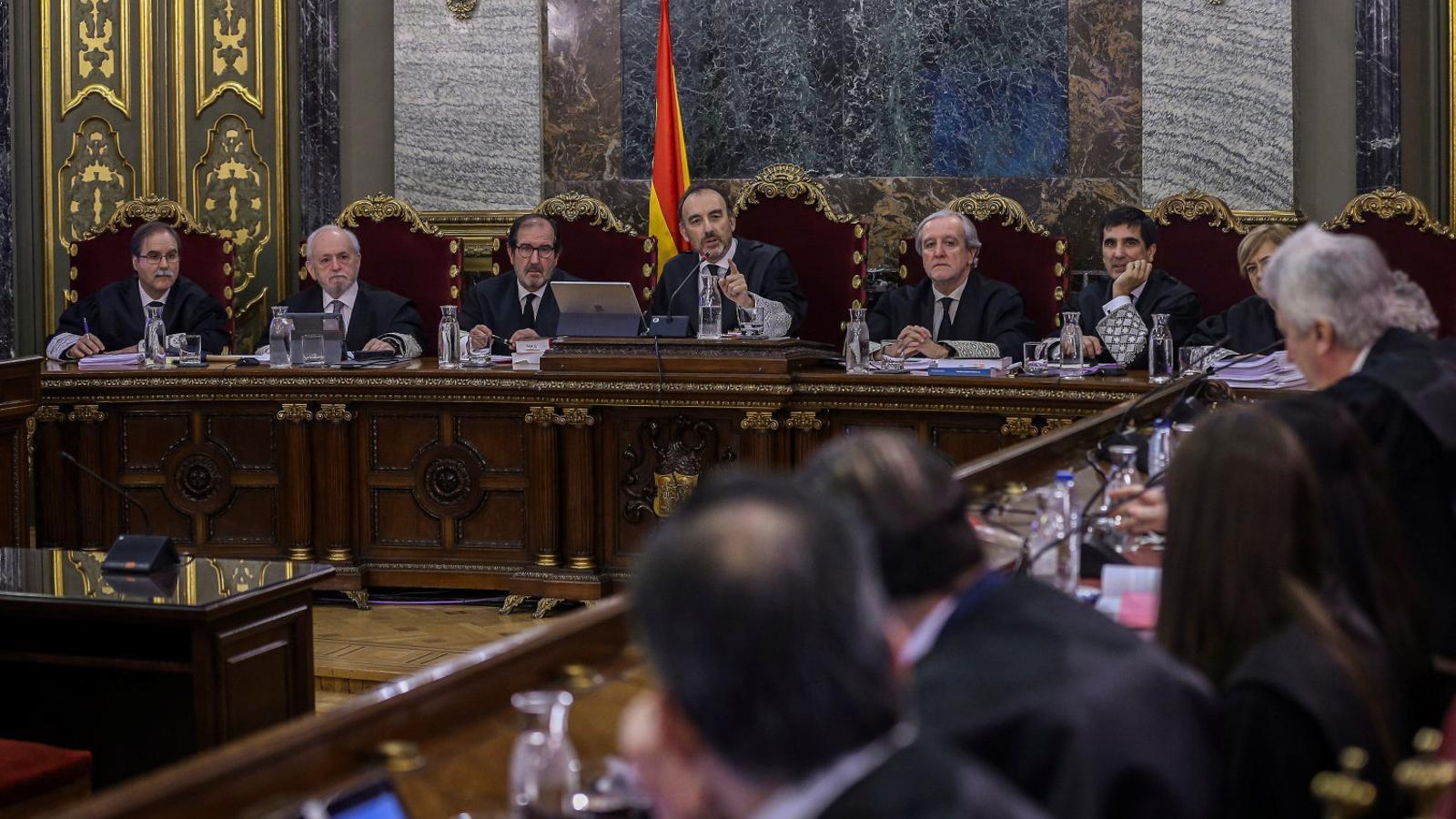 El president del tribunal del Procés, Manuel Marchena, és l'únic dels set magistrats del jurat que ha pres la paraula durant el judici / EFE