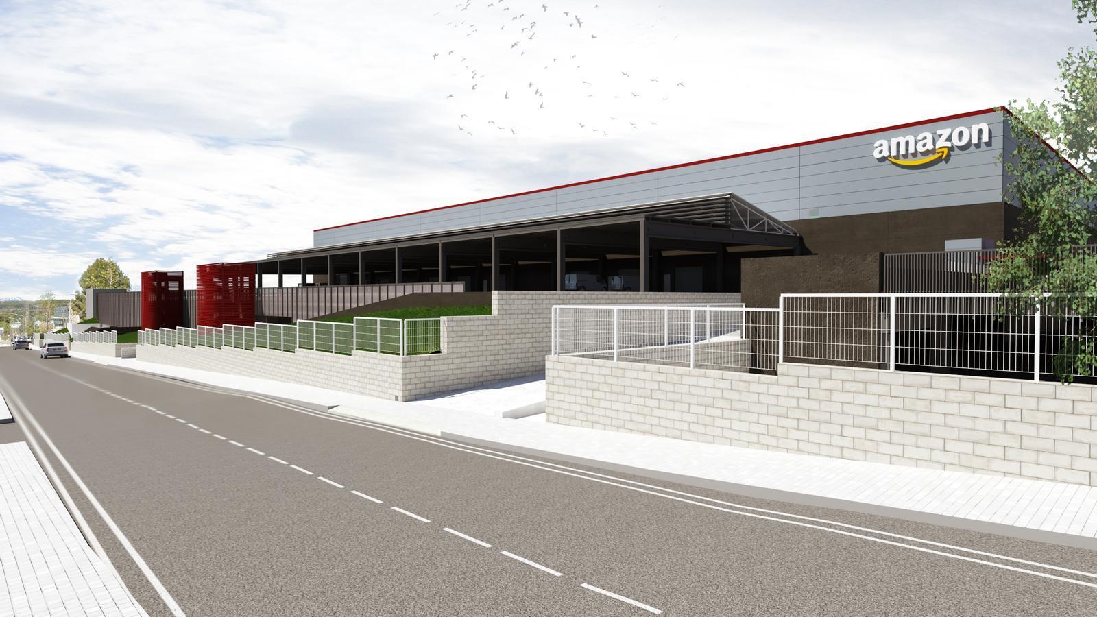 Així serà l'estació logística d'Amazon a Rubí.